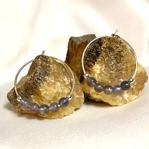 Jewelry - IOLITE Gemstone Hoop Earrings